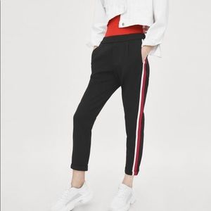 Zara black striped trousers joggers